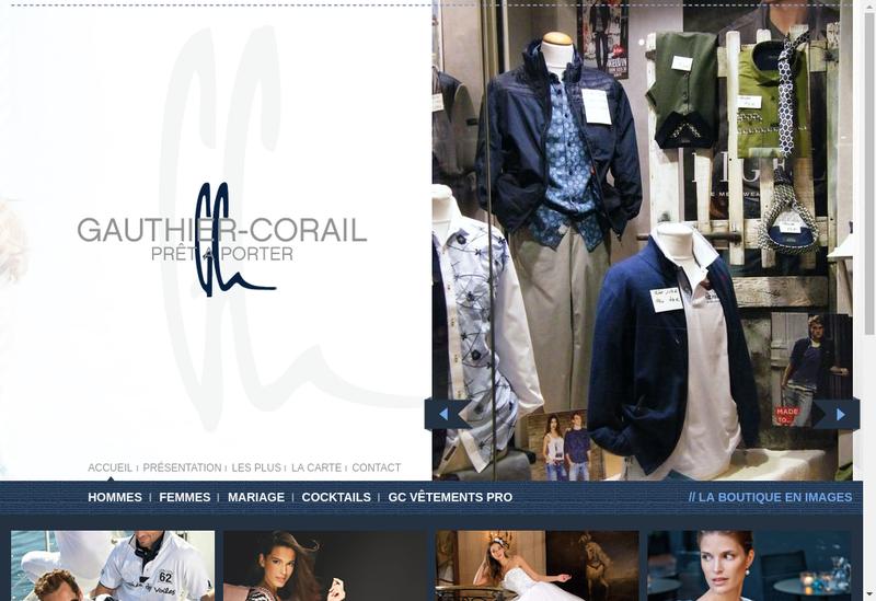 Capture d'écran du site de Gauthier Corail