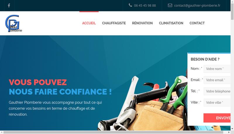 Capture d'écran du site de Gauthier Plomberie
