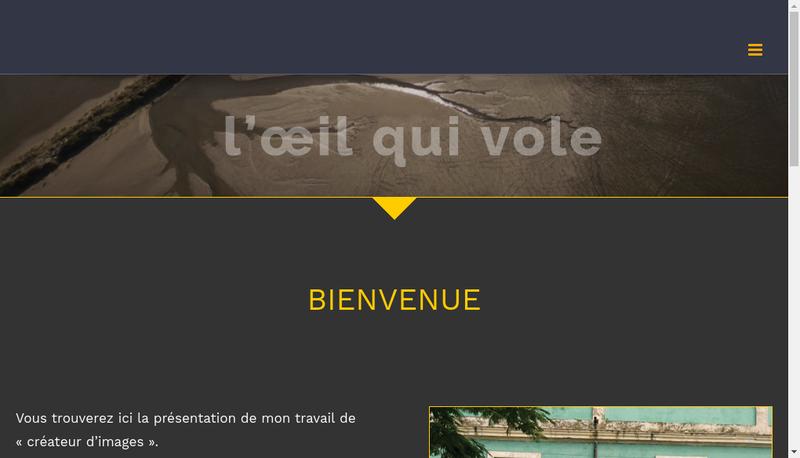 Capture d'écran du site de Remi Gazel