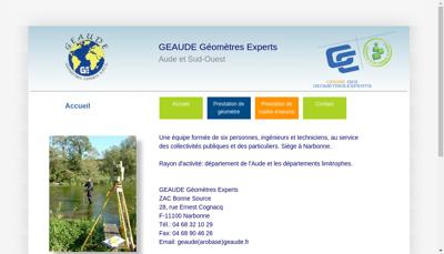 Capture d'écran du site de Geaude