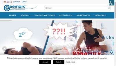 Site internet de Geemarc