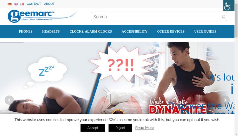 Capture d'écran du site de Geemarc