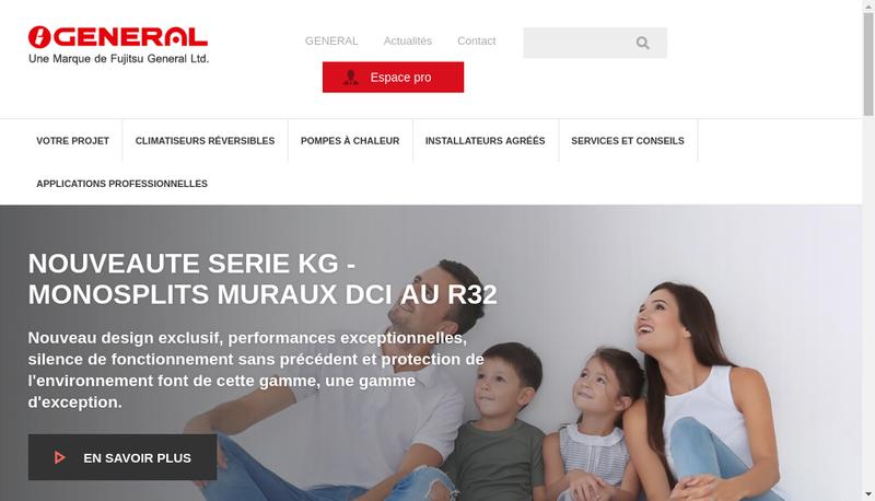 Capture d'écran du site de Eurofred France