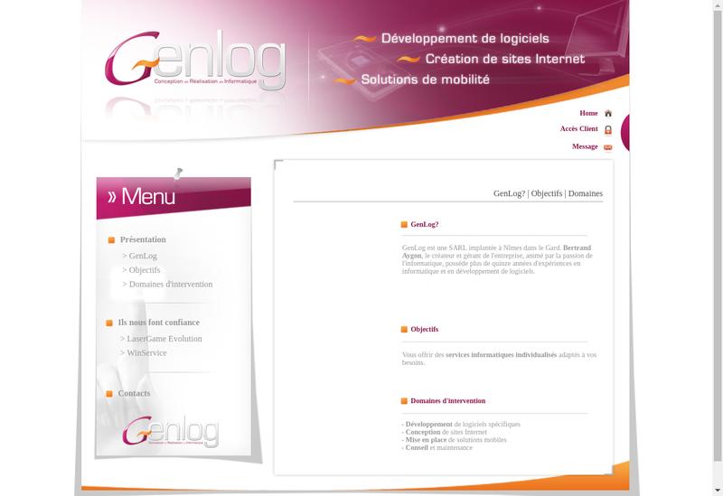 Capture d'écran du site de Genlog