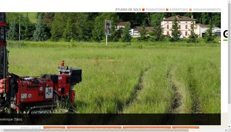 Capture d'écran du site de Laurent Gascon