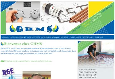 Capture d'écran du site de GHMS