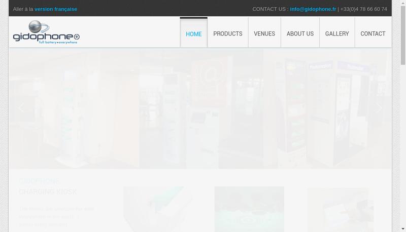 Capture d'écran du site de Gidophone