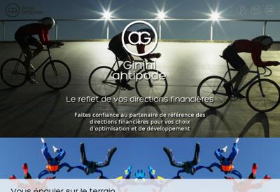 Capture d'écran du site de Ginini