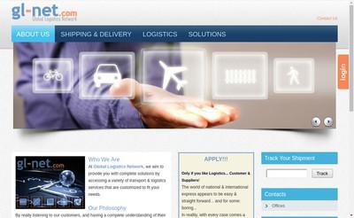 Site internet de Global Logistics Network