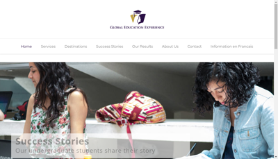 Capture d'écran du site de Global Education Experience