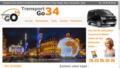Capture d'écran du site de Go 34