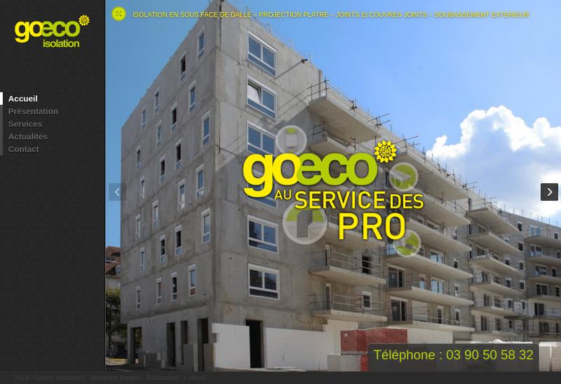 Capture d'écran du site de Goeco