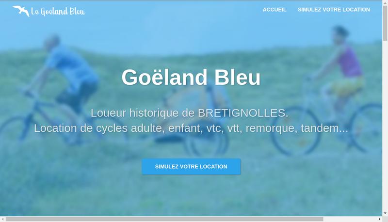 Capture d'écran du site de Le Goeland Bleu