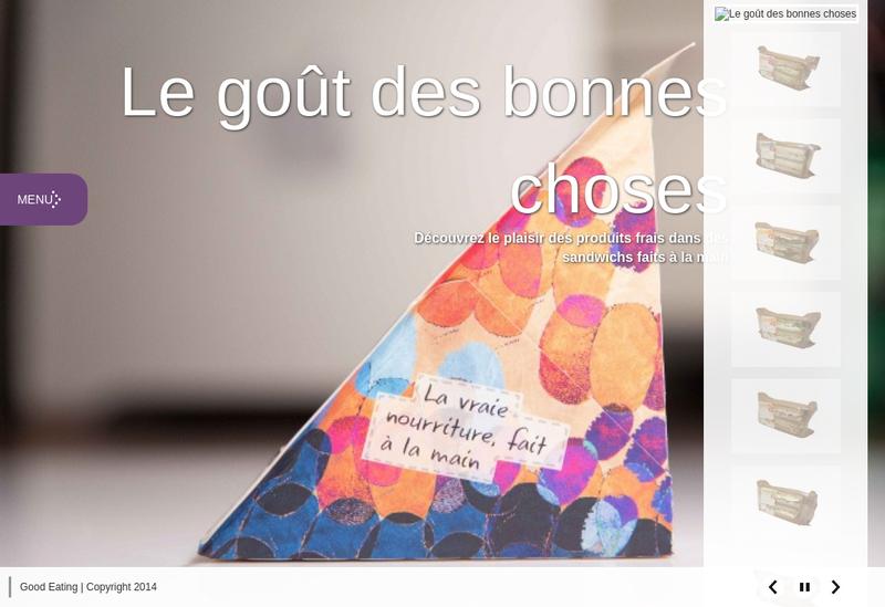 Capture d'écran du site de Good Eating