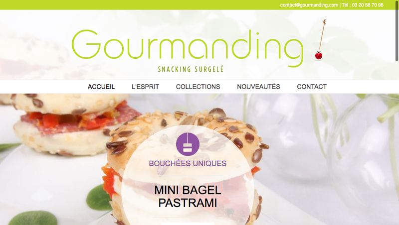 Capture d'écran du site de Gourmanding