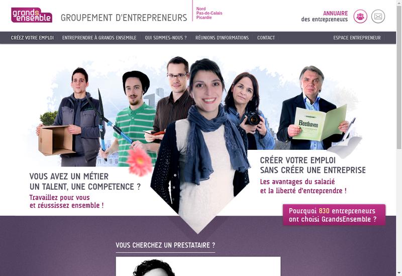 Capture d'écran du site de Grand Ensemble