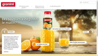 Capture d'écran du site de Eckes Granini France SNC