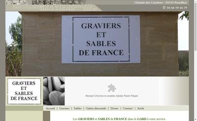 Site internet de Graviers et Sabl de France