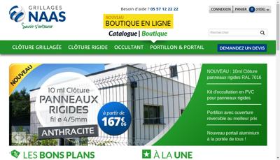 Capture d'écran du site de Societe les Grillages Naas
