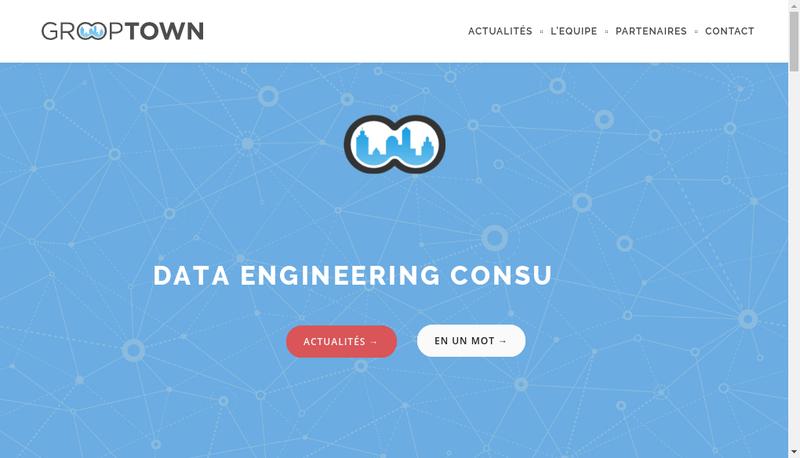 Capture d'écran du site de Grooptown