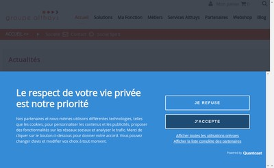 Site internet de Groupe Althays