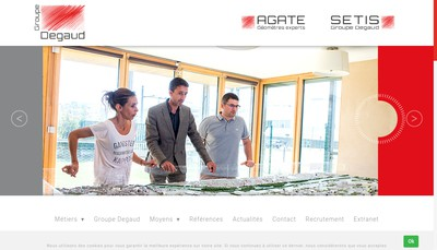 Site internet de Groupe Degaud