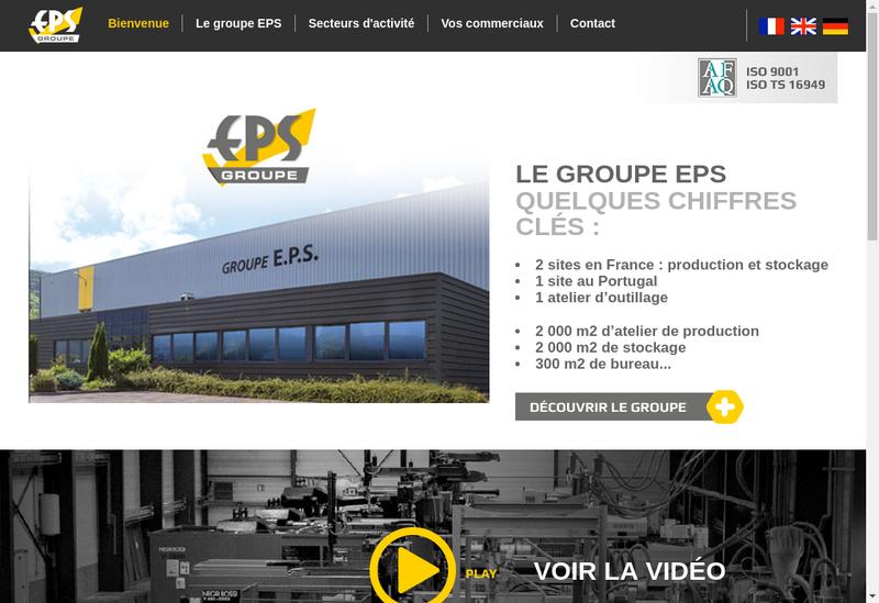 Capture d'écran du site de Eps Distribution