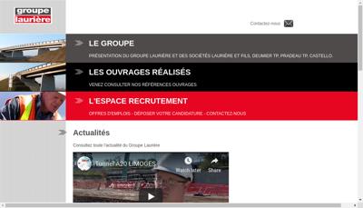 Capture d'écran du site de Lauriere et Fils