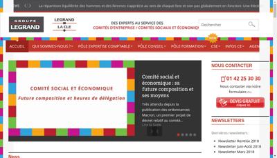 Capture d'écran du site de Legrand Comptabilite Conseil