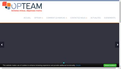 Capture d'écran du site de Opteam