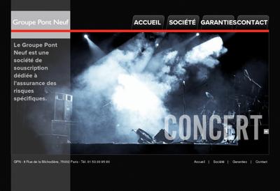 Capture d'écran du site de Groupe Pont Neuf