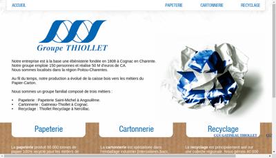 Capture d'écran du site de Papeterie St Michel Gpe Thiollet