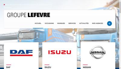 Capture d'écran du site de Concessionnaire Daf
