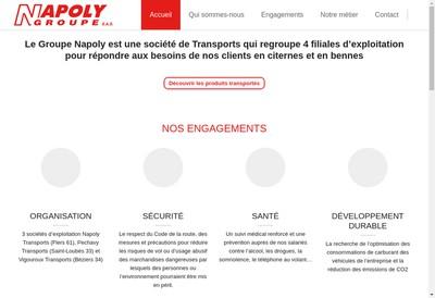 Site internet de Napoly Transports SAS