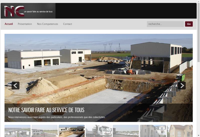 Capture d'écran du site de Groupe Nc