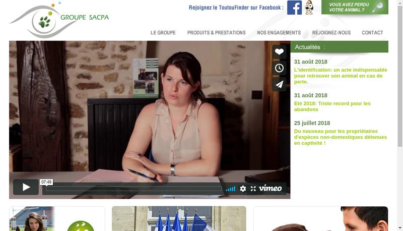 Capture d'écran du site de Sacpa