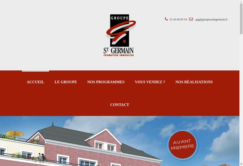 Capture d'écran du site de Groupe Saint Germain