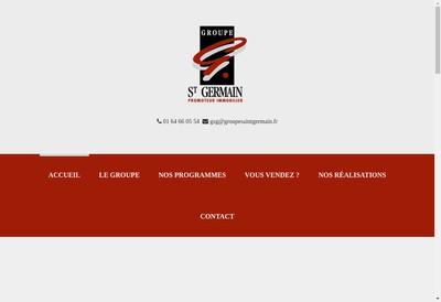 Site internet de Groupe Saint Germain