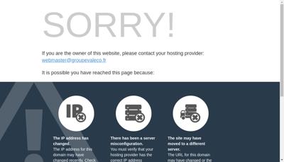 Capture d'écran du site de Valeco Ingenierie