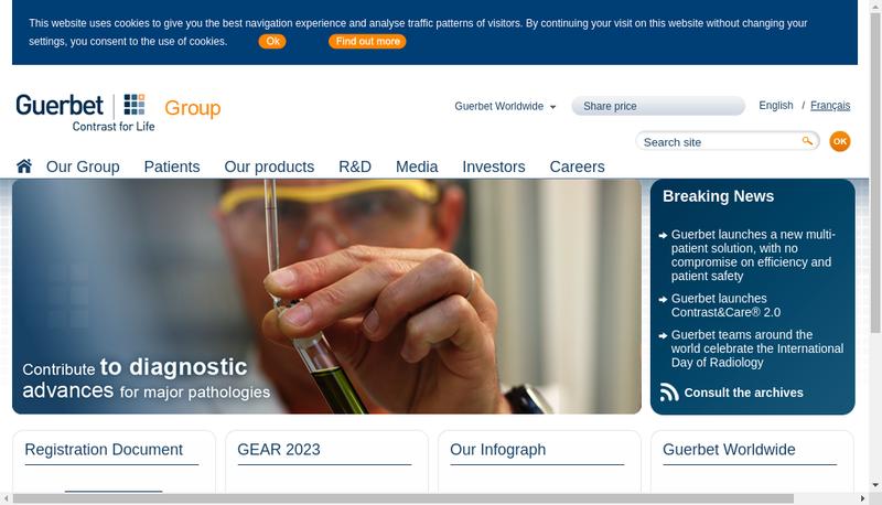 Capture d'écran du site de Guerbet