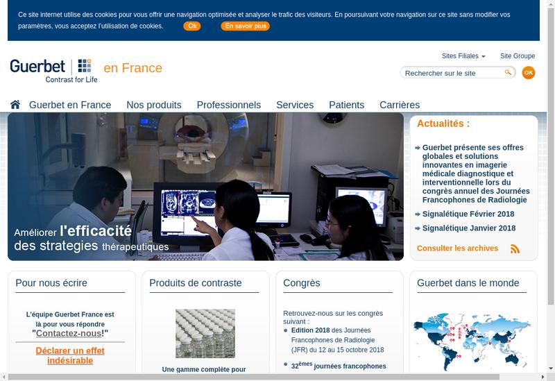 Capture d'écran du site de Guerbet France