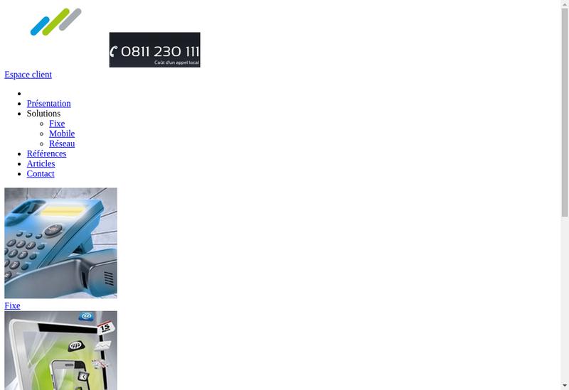 Capture d'écran du site de Guide Telecom