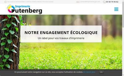 Site internet de Gutenberg Offset