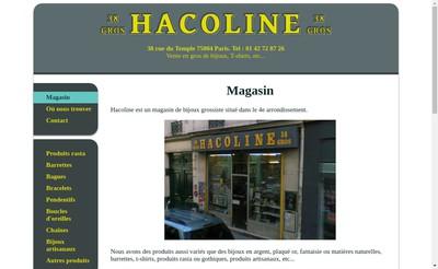 Site internet de Hacoline
