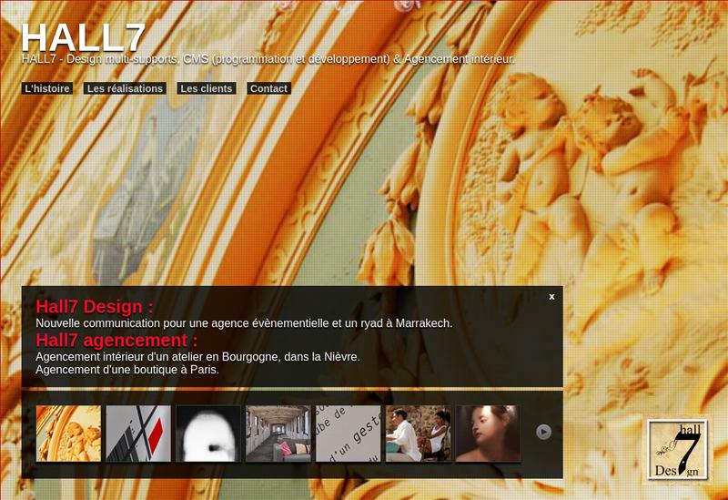 Capture d'écran du site de Laurent Bonventre