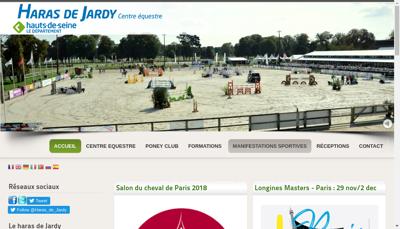 Capture d'écran du site de Jardy EURL