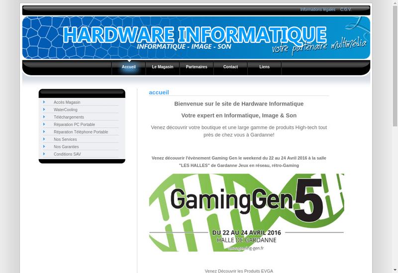 Capture d'écran du site de Hardware Informatique