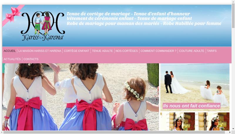 Capture d'écran du site de Hariss et Harena