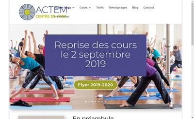 Site internet de Actem Yoga