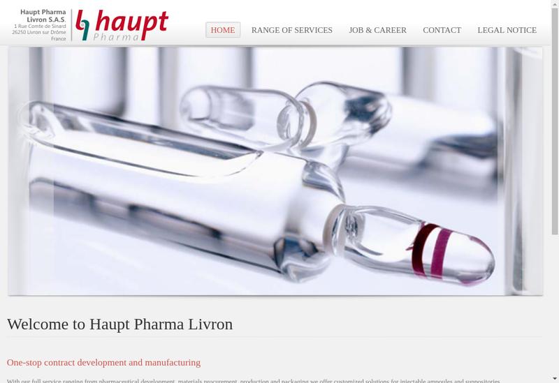Capture d'écran du site de Haupt Pharma Livron